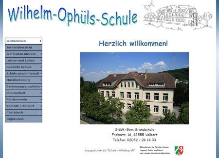 Schul-Website-Grafik
