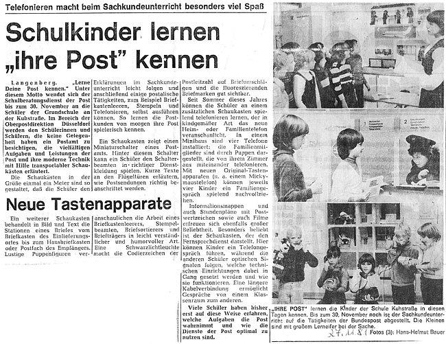 Historische Zeitungsausschnitte