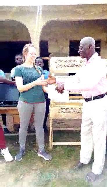 Projekt Ghana Spendenübergabe